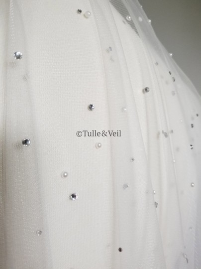 Ivory Long Cathedral - Finley Bridal Veil Image 1