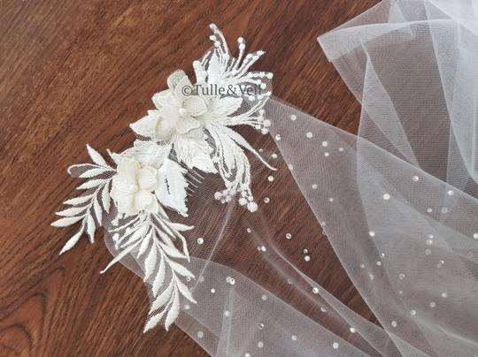 Ivory Long Cathedral - Finley Bridal Veil Image 6