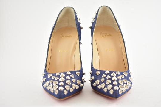 Christian Louboutin Pigalle Stiletto Classic Ankle Strap Drama blue Pumps Image 5