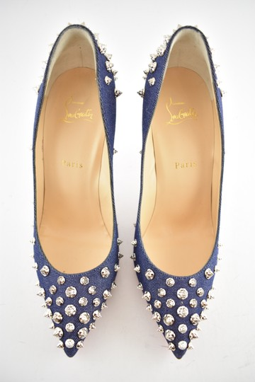Christian Louboutin Pigalle Stiletto Classic Ankle Strap Drama blue Pumps Image 7