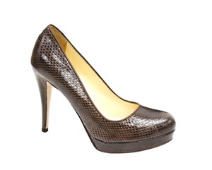 Max Mara Platform Brown Pumps