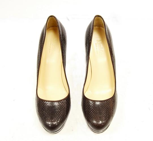 Max Mara Platform Brown Pumps Image 6