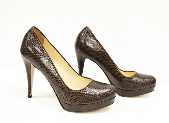 Max Mara Platform Brown Pumps Image 7