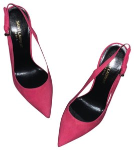 Saint Laurent raspberry Pumps