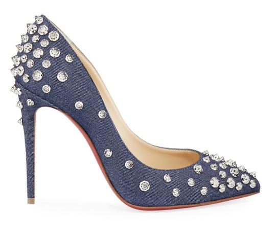 Christian Louboutin Pigalle Stiletto Classic Ankle Strap Drama blue Pumps Image 2