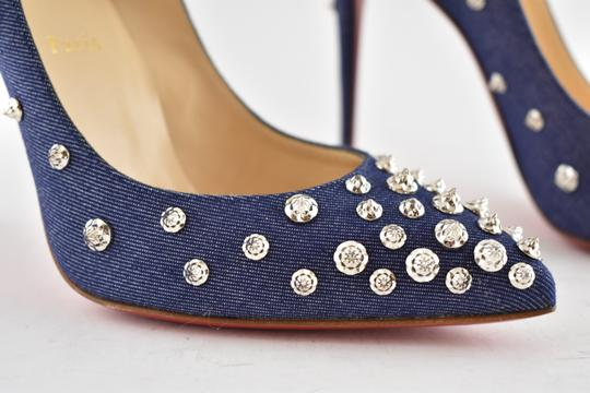 Christian Louboutin Pigalle Stiletto Classic Ankle Strap Drama blue Pumps Image 4