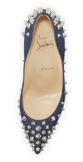 Christian Louboutin Pigalle Stiletto Classic Ankle Strap Drama blue Pumps Image 6