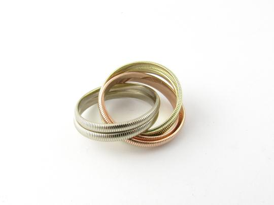 Tiffany & Co. Tiffany & Co. 14K Tri Color Gold Ribbed Double Trinity Roller Ring 8.5 Image 1