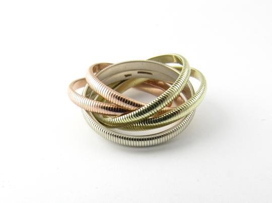 Tiffany & Co. Tiffany & Co. 14K Tri Color Gold Ribbed Double Trinity Roller Ring 8.5 Image 3