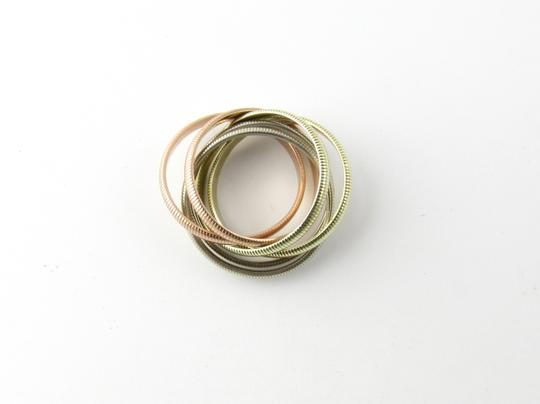Tiffany & Co. Tiffany & Co. 14K Tri Color Gold Ribbed Double Trinity Roller Ring 8.5 Image 4