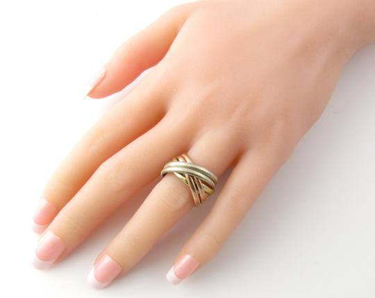 Tiffany & Co. Tiffany & Co. 14K Tri Color Gold Ribbed Double Trinity Roller Ring 8.5 Image 6