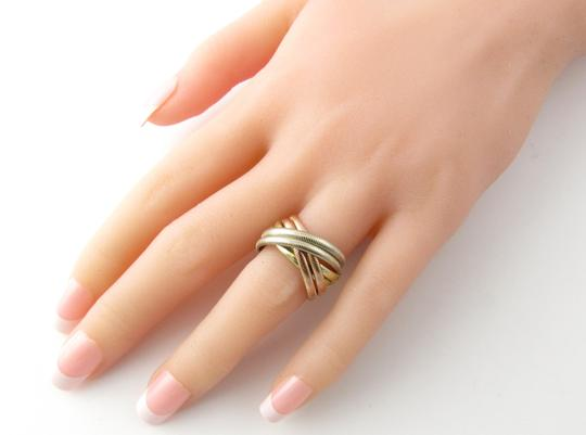 Tiffany & Co. Tiffany & Co. 14K Tri Color Gold Ribbed Double Trinity Roller Ring 8.5 Image 7