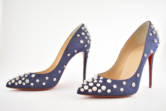 Christian Louboutin Pigalle Stiletto Classic Ankle Strap Drama blue Pumps Image 9