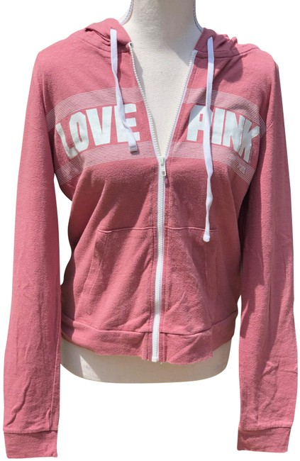 Preload https://img-static.tradesy.com/item/25854721/pink-mauve-victoria-s-secret-zip-up-sweatshirthoodie-size-12-l-0-1-650-650.jpg