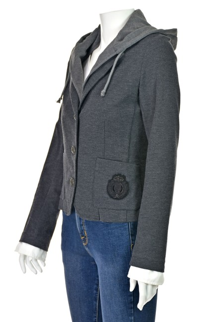 Haute Hippie Skull Removable Hood Jacket With Hood Gray Blazer Image 2