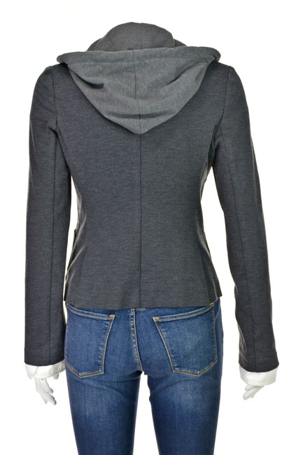 Haute Hippie Skull Removable Hood Jacket With Hood Gray Blazer Image 4