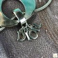 Dior Christian Dior Gold Logo Letter Charms Snake Chain Necklace SALE! Image 10