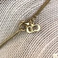 Dior Christian Dior Gold Logo Letter Charms Snake Chain Necklace SALE! Image 9