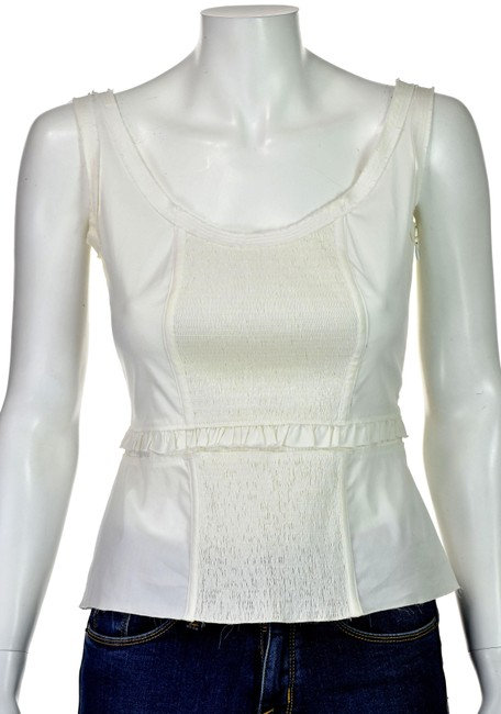 Preload https://img-static.tradesy.com/item/25854744/prada-white-cotton-with-elasticized-ruching-tank-topcami-size-4-s-0-1-650-650.jpg