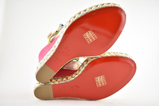 Christian Louboutin Pigalle Stiletto Classic Galeria Studded pink Wedges Image 11
