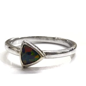 DeWitt's BEAUTIFUL!! GENUINE DEWITT ESTATE COLLECTION!! 14 Karat White Gold, and Opal Ring