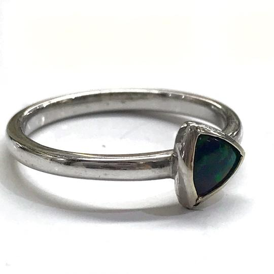 DeWitt's BEAUTIFUL!! GENUINE DEWITT ESTATE COLLECTION!! 14 Karat White Gold, and Opal Ring Image 1
