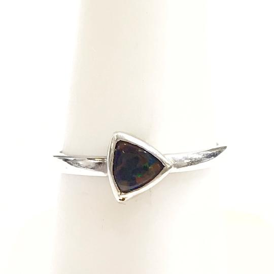 DeWitt's BEAUTIFUL!! GENUINE DEWITT ESTATE COLLECTION!! 14 Karat White Gold, and Opal Ring Image 3