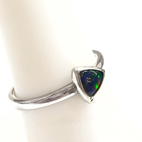 DeWitt's BEAUTIFUL!! GENUINE DEWITT ESTATE COLLECTION!! 14 Karat White Gold, and Opal Ring Image 4