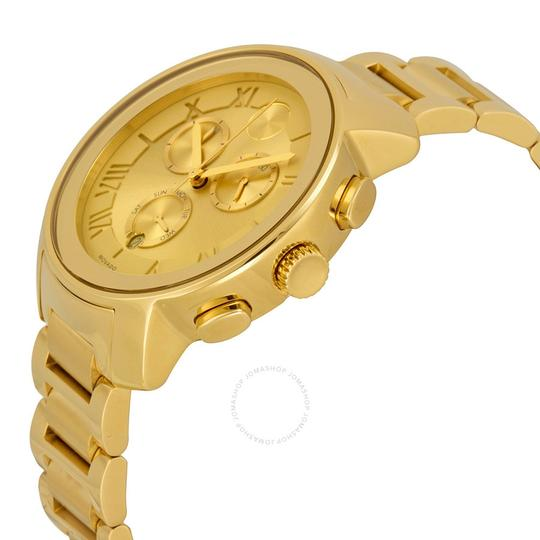 Movado MOVADO BOLD LADIES CHAMPAGNE DIAL GOLD TONE SWISS CHRONOGRAPH WATCH 36 Image 1