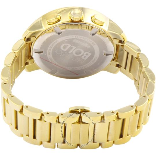 Movado MOVADO BOLD LADIES CHAMPAGNE DIAL GOLD TONE SWISS CHRONOGRAPH WATCH 36 Image 2