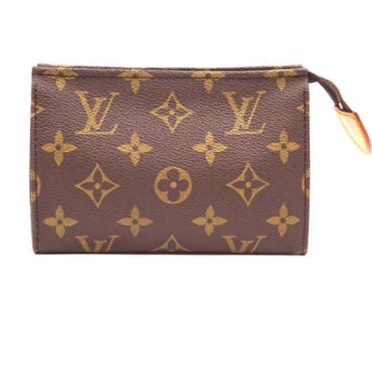 Louis Vuitton Monogram Pouch Flat Cosmetic brown Clutch Image 1