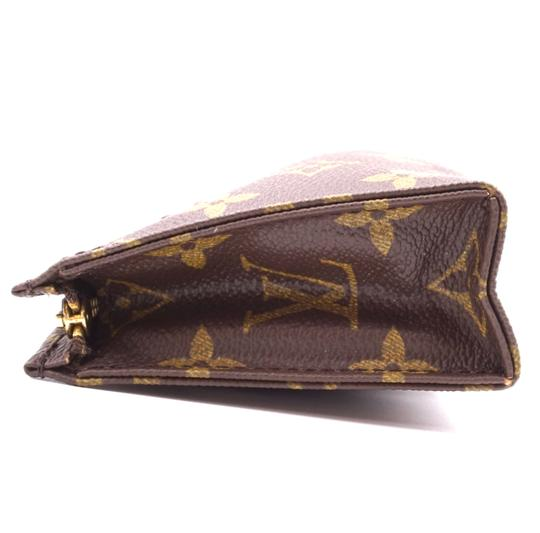 Louis Vuitton Monogram Pouch Flat Cosmetic brown Clutch Image 7