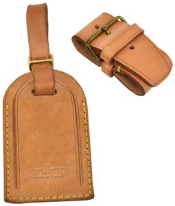 Louis Vuitton Vachetta Leather Luggage Tag & Keep all Set (my)