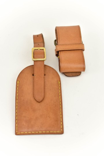 Louis Vuitton Vachetta Leather Luggage Tag & Keep all Set (my) Image 2