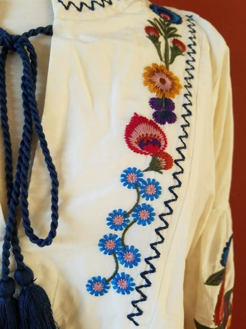 Zara Embroidered Floral Silk Dress Image 2