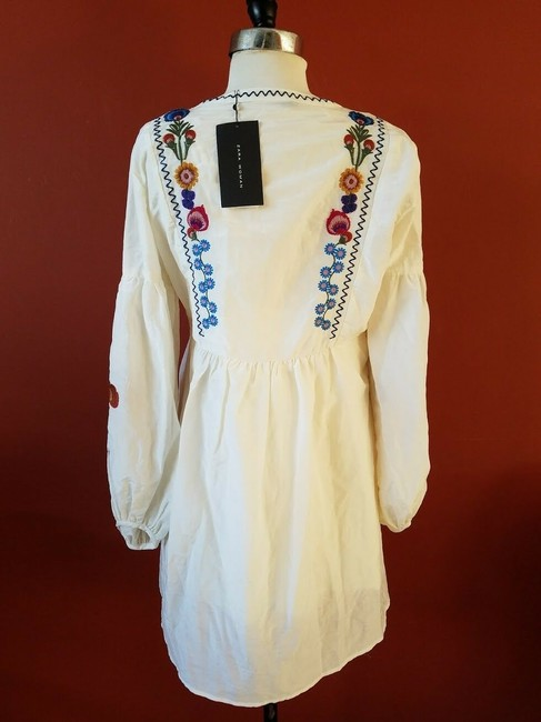 Zara Embroidered Floral Silk Dress Image 3