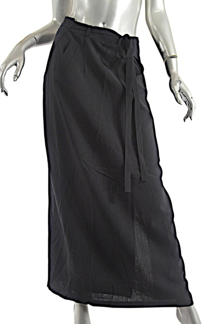 Preload https://img-static.tradesy.com/item/25854882/morgane-le-fay-black-wool-silk-chiffon-rear-straight-wrap-skirt-size-12-l-32-33-0-1-650-650.jpg