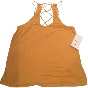 RVCA Lace Up Surfer Summer Fall Top Mustard Yellow