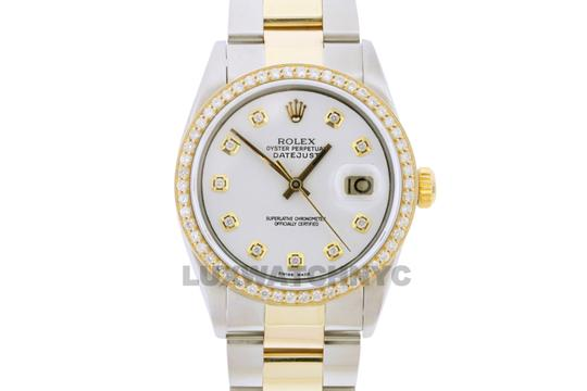 Rolex 1.5ct MEN'S 36mm Datejust Gold & Stainless with Appraisal Image 1