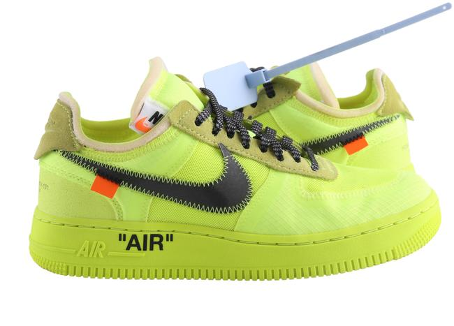 Off White Yellow Off White X Nike Air Force 1 Low Volt Sneakers