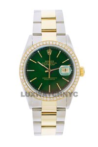 Rolex 1.5ct Men's 36mm Datejust Gold & Stainless with Appraisal