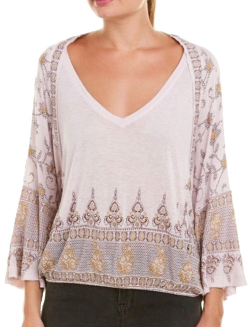 Preload https://img-static.tradesy.com/item/25854914/free-people-lilac-medallion-bell-sleeve-s-blouse-size-4-s-0-1-650-650.jpg