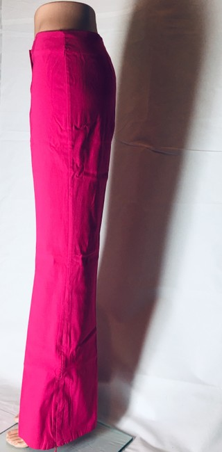 Other Lot Rise Fit Slim Fit Flare Pants Fuchsia Image 1