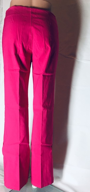 Other Lot Rise Fit Slim Fit Flare Pants Fuchsia Image 2