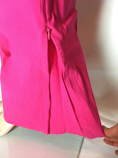 Other Lot Rise Fit Slim Fit Flare Pants Fuchsia Image 7
