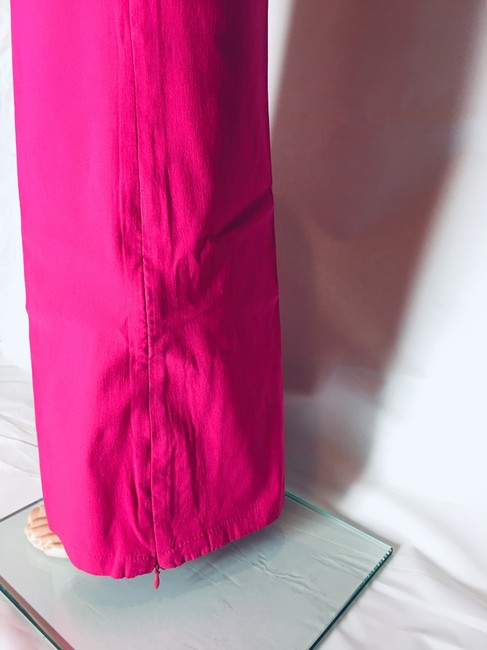 Other Lot Rise Fit Slim Fit Flare Pants Fuchsia Image 8