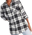 Old Navy Button Down Shirt Black & White Image 0