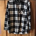 Old Navy Button Down Shirt Black & White Image 1