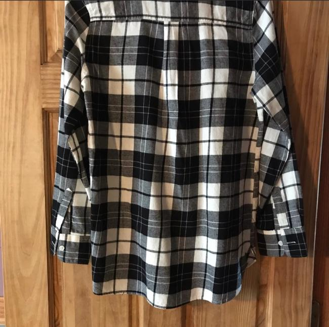 Old Navy Button Down Shirt Black & White Image 2