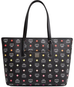 MCM Colorful Multicolor Tote in Black